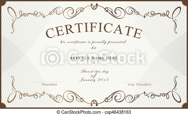 Certificate border certificate template vector clip art certificate border certificate template vector illustration yadclub Image collections