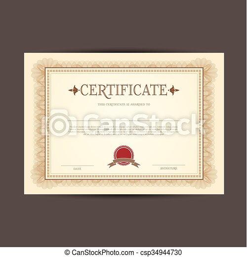 certificate design background csp34944730