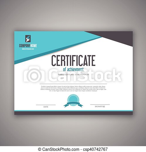 Certificate design. Modern design for a certificate or ...