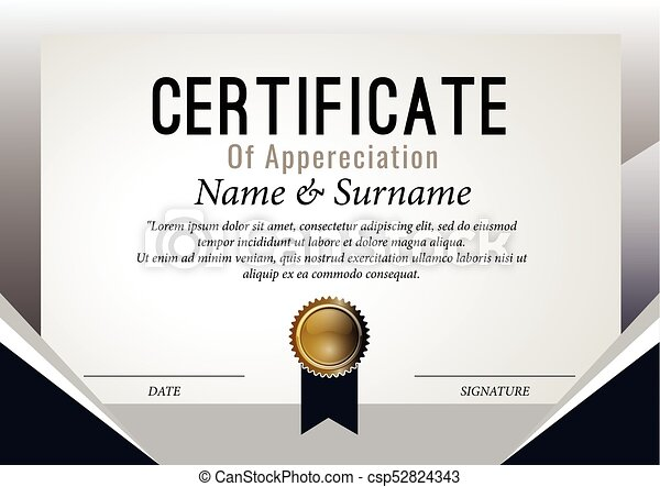 Certificate design template vector illustration eps vector certificate design template vector illustration yadclub Choice Image
