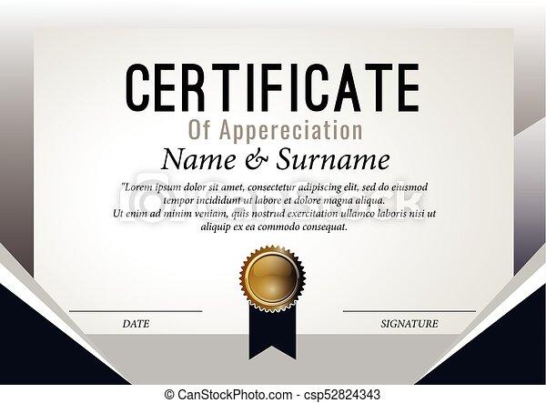 Certificate design template. vector, illustration. eps vector ...