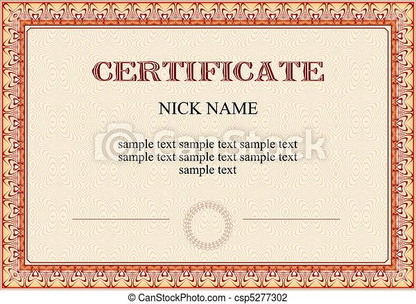 certificate, diploma for print  - csp5277302