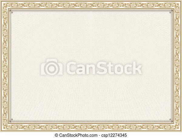 certificate, diploma for print - csp12274345