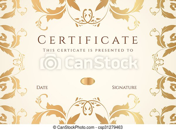 certificate diploma of completion border certificate diploma of