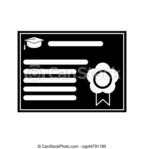 certificate diploma school pictogram