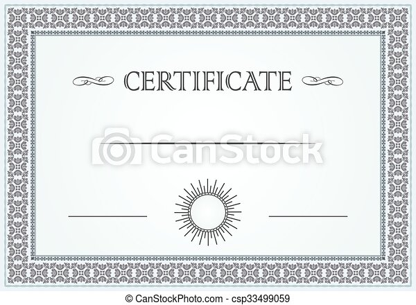 certificate floral border csp33499059