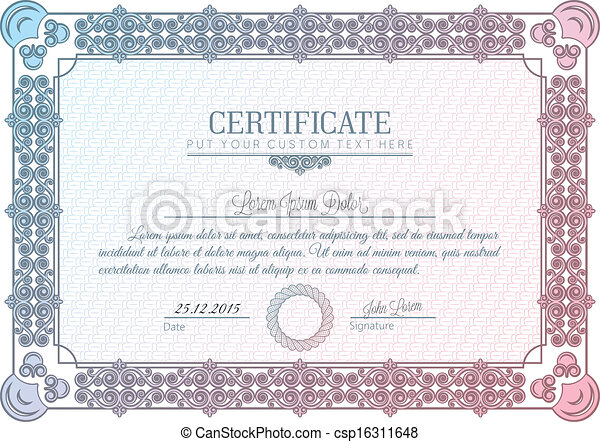certificate frame charter diploma  - csp16311648