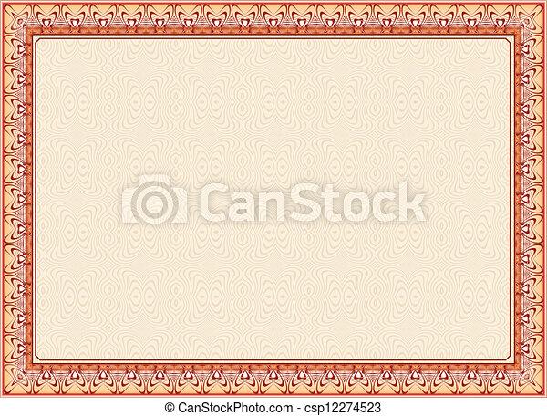 Certificate Frame Diploma  - csp12274523