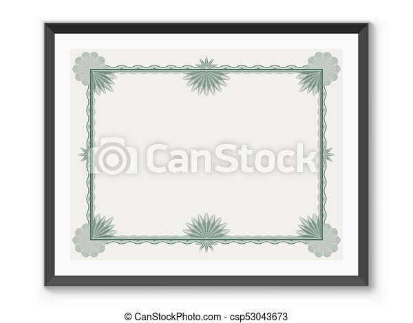 certificate frame template csp53043673