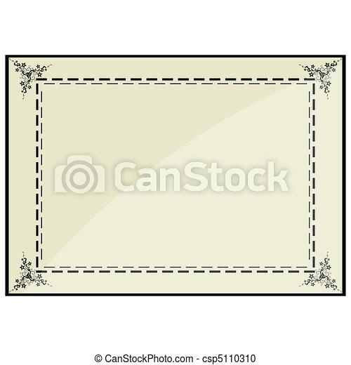 certificate frame - csp5110310