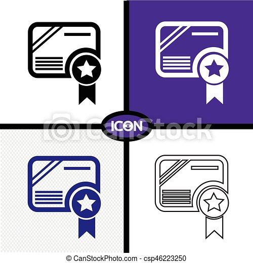 Certificate Icon - csp46223250