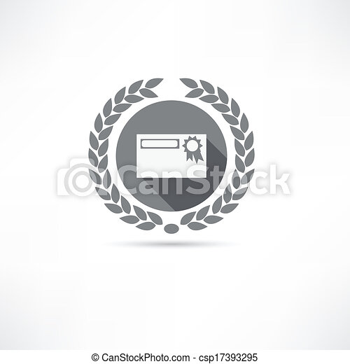 certificate icon - csp17393295
