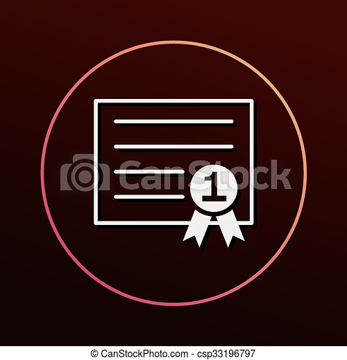 Certificate icon - csp33196797