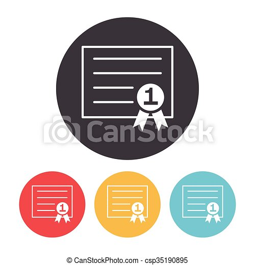 Certificate icon - csp35190895