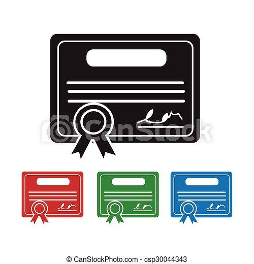 Certificate Icon - csp30044343