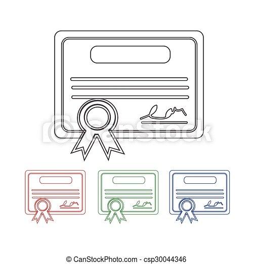 Certificate Icon - csp30044346