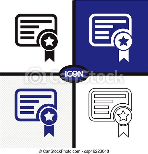 Certificate Icon - csp46223048