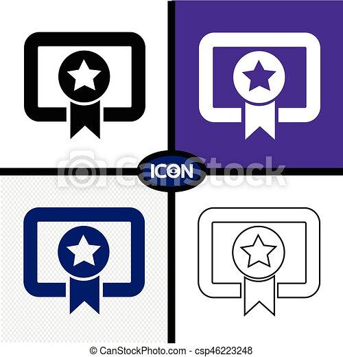 Certificate Icon - csp46223248