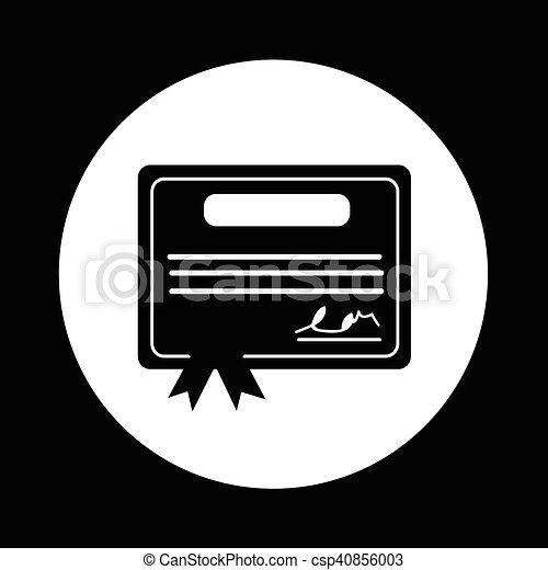 Certificate Icon illustration design - csp40856003