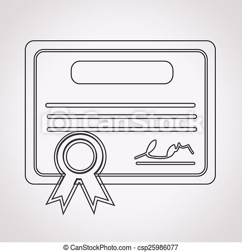 Certificate Icon - csp25986077