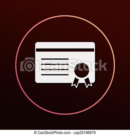 Certificate icon - csp33196679