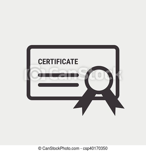 Certificate icon, vector Certificate icon eps10. - csp40170350