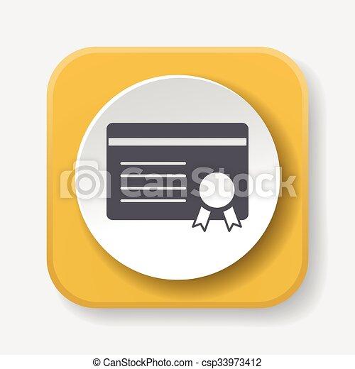 Certificate icon - csp33973412