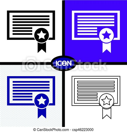 Certificate Icon - csp46223000