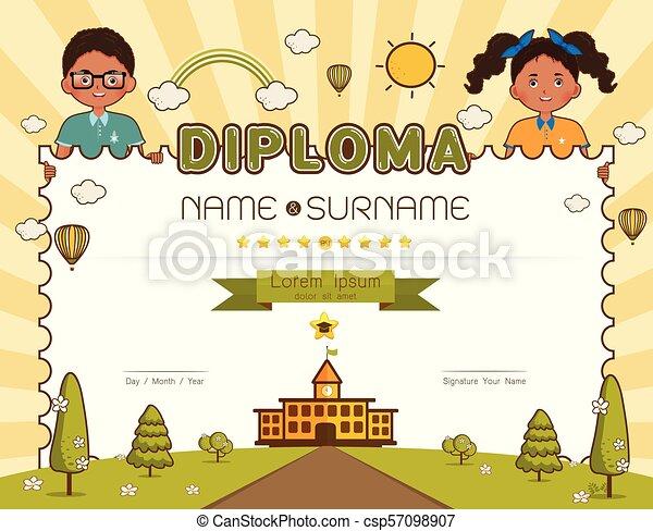 school certificate for kids