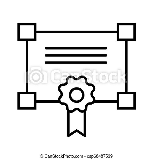 Certificate line icon. vector illustration isolated on white. outline style design, designed for web and app. Eps 10 - csp68487539