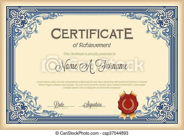 Certificate of Achievement - csp37044893