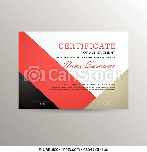 Certificate of achievement template - csp41287166