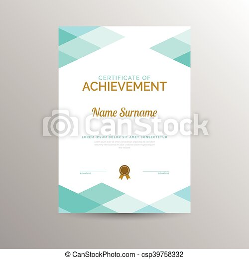 Certificate of achievement template - csp39758332