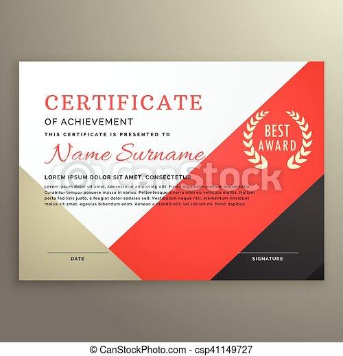 certificate of achievement template - csp41149727