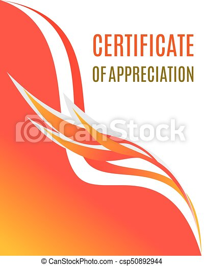 certificate of appreciation design composition with smooth forms