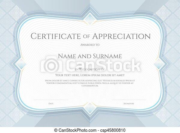 Certificate of appreciation template in vector with applied certificate of appreciation template in vector with applied thai art background silver grey color yadclub Gallery