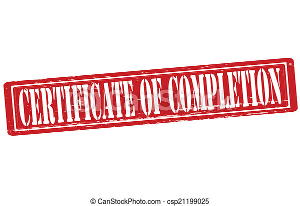 Certificate of completion - csp21199025