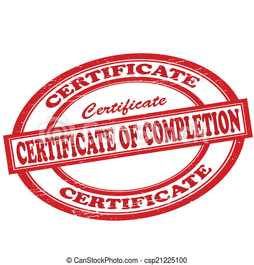 Certificate of completion - csp21225100