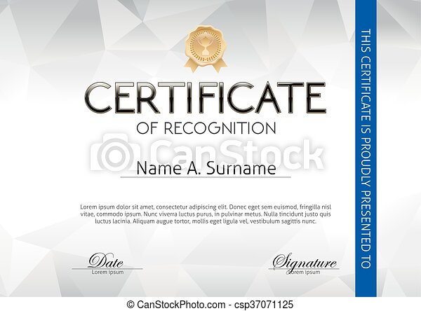 Certificate of Recognition - csp37071125