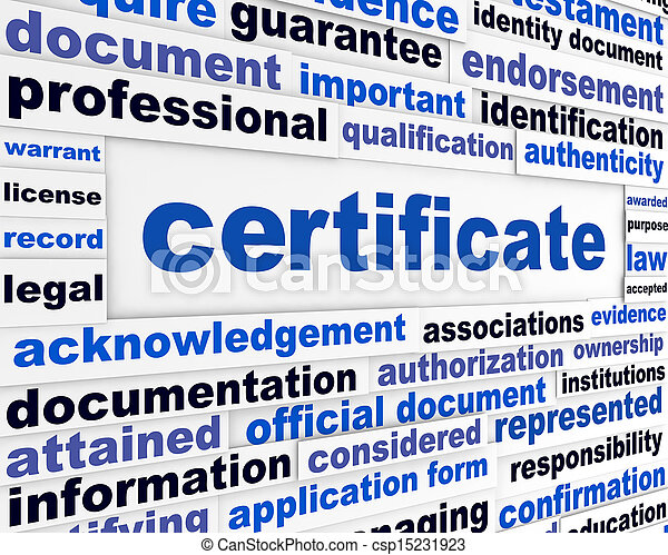 Certificate official document - csp15231923