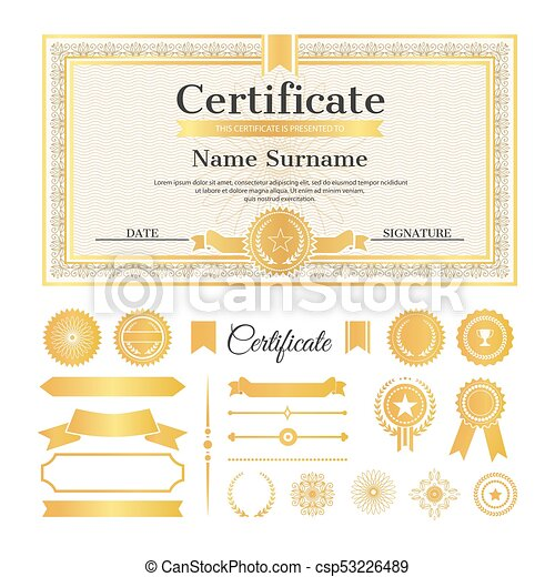 Certificate sample with stamps vector illustration vector certificate sample with stamps vector illustration yadclub Choice Image
