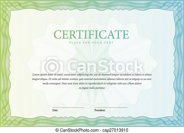 Certificate Template Diplomas Currency Vector Certificate
