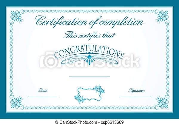 Certificate template illustration of certificate template eps certificate template csp6613669 yadclub Choice Image