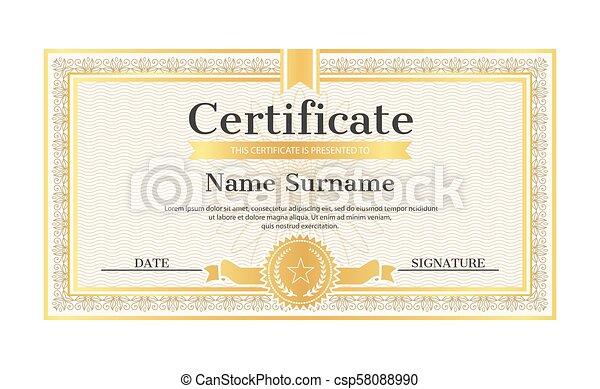 Certificate Template Editable Name Surname Date Certificate