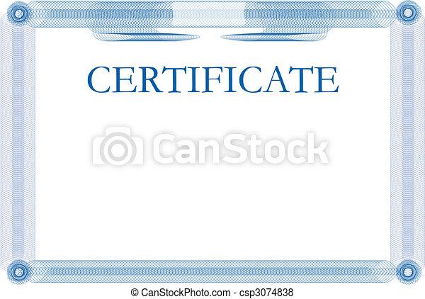 Certificate template - csp3074838