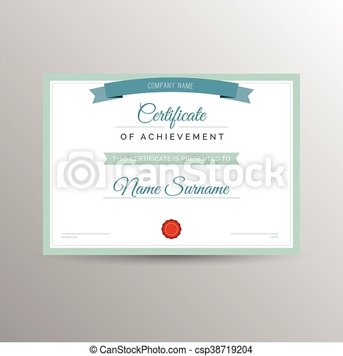 Certificate Template Simple Certificate Of Achievement Template