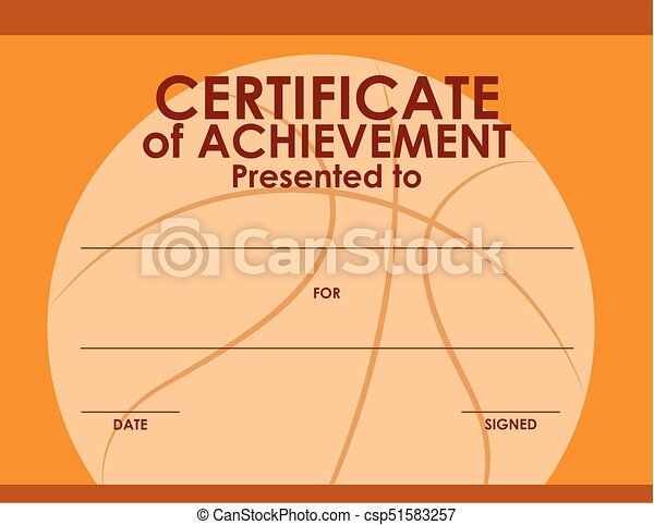 Certificate template with basketball background illustration certificate template with basketball background csp51583257 yelopaper Gallery