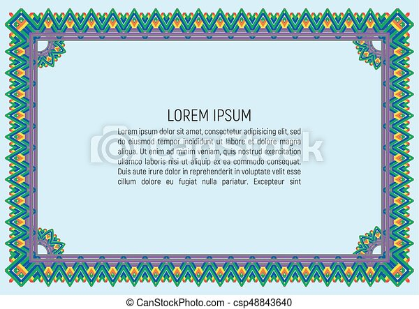 Certificate Template. With Guilloche Pattern And Background. Money Style  Design. Vector Illustration  Money Certificate Template