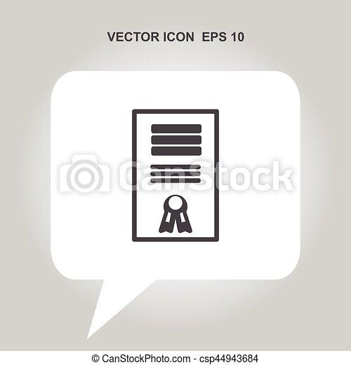 certificate vector icon - csp44943684