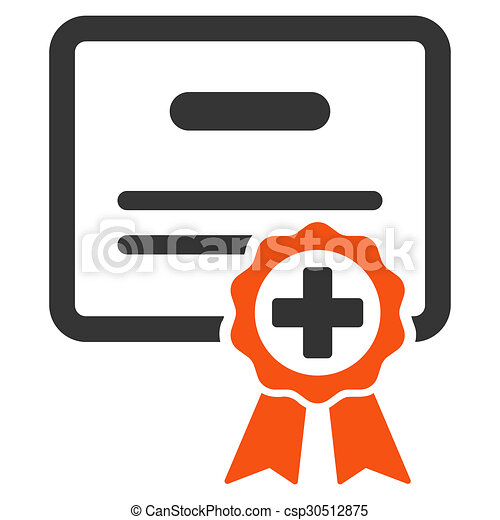 Certification icon. Certification glyph icon. style is bicolor flat ...